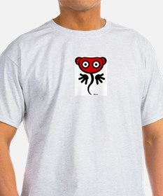 Red Freaky Cute Ash Grey T-Shirt