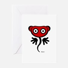 Red Freaky Cute Greeting Cards (Pk of 10)