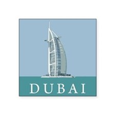 "Dubai Burj Al Arab Square Sticker 3"" x 3"""