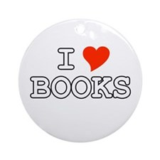 I Love Books Ornament (Round)