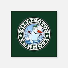 "Killington Snowman Circle Square Sticker 3"" x 3"""