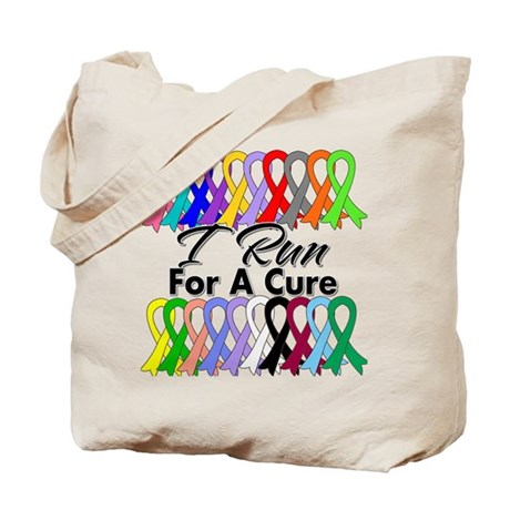 Cancer I Run For A Cure Tote Bag