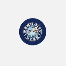 Park City Snowman Circle Mini Button