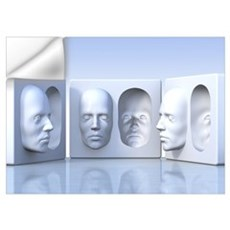 Hollow-face illusion,artwork Wall Decal