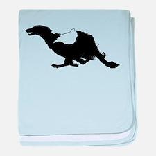 Running Silken Windhound baby blanket