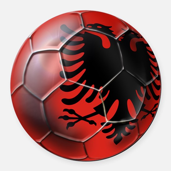 Albanian Football Round Car Magnet