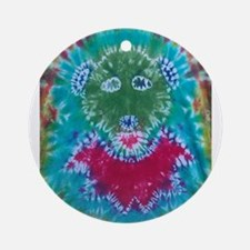 Tie Dyed Jerry Bear Ornament (Round)