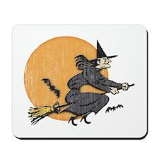 Retro Halloween Witch Mousepad