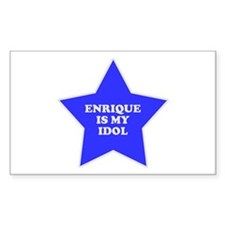Enrique Is My Idol Rectangle Bumper Stickers