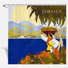 Vintage Jamaica Shower Curtain