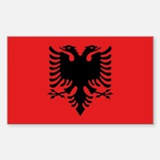 Flag of Albania Sticker (Rectangle 10 pk)