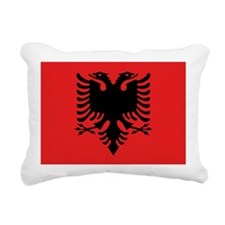 Flag of Albania Rectangular Canvas Pillow