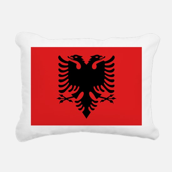 Flag of Albania Rectangular Canvas Pillow