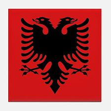 Flag of Albania Tile Coaster