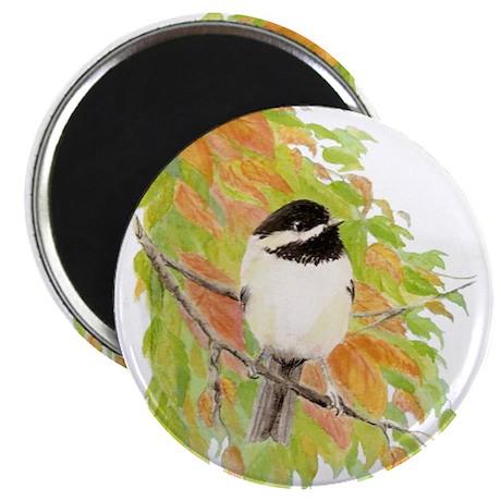"Autumn Chickadee 2.25"" Magnet (100 pack)"