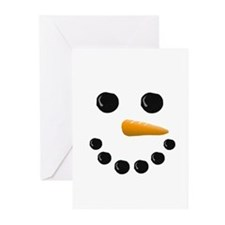 Snowman Face Greeting Cards (Pk of 10)
