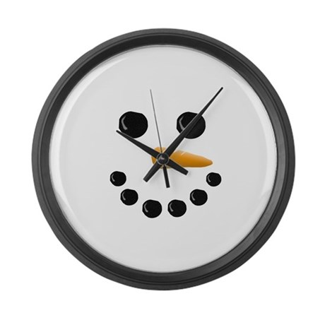 Snowman Face Large Wall Clock By Irregulariteez