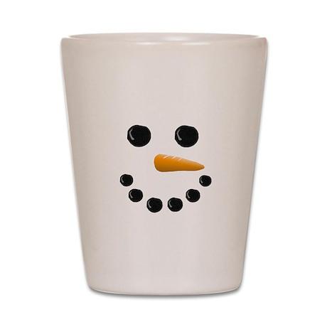 Snowman Face Shot Glass
