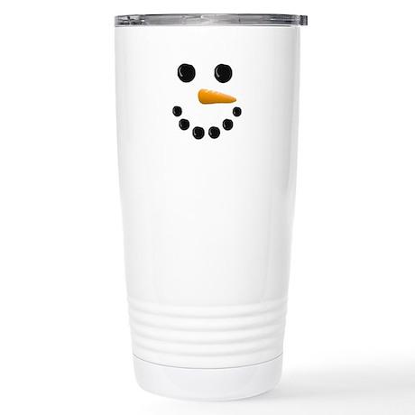 Snowman Face Stainless Steel Travel Mug