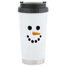 Snowman Face Travel Mug