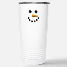 Snowman Face Travel Mug