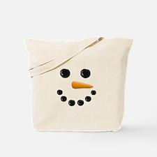Snowman Face Tote Bag
