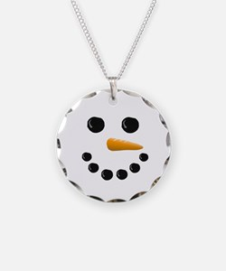 Snowman Face Necklace