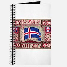 1930 Iceland Flag Postage Stamp Journal