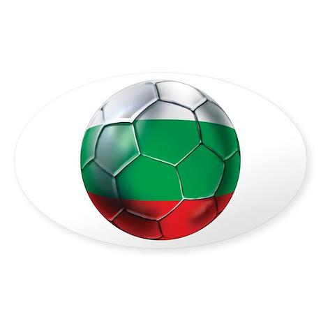 Bulgaria Football Sticker (Oval)