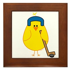 Hockey Chick Framed Tile