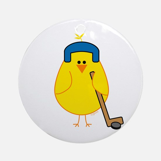 Hockey Chick Ornament (Round)
