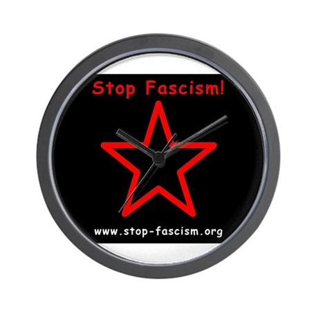 Stop Fascism Wall Clock