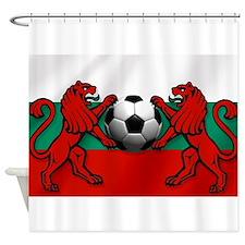 Bulgarian Football Flag Shower Curtain