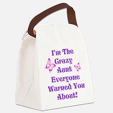 Crazy Aunt Canvas Lunch Bag