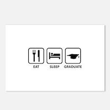 Eat Sleep Graduate Postcards (Package of 8)