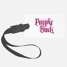 People Suck Pink Luggage Tag