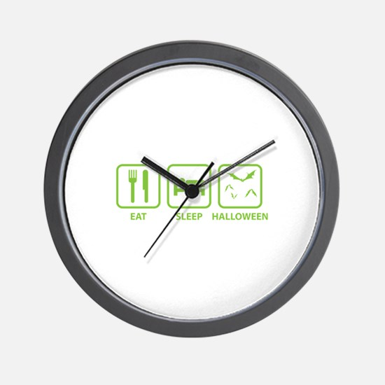 Eat Sleep Halloween Wall Clock