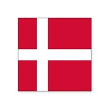 "Denmark Flag Square Sticker 3"" x 3"""