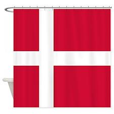 Denmark Flag Shower Curtain