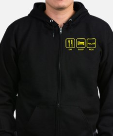 Eat Sleep NCIS Zipped Hoodie