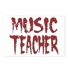 """Music Teacher Red"" Postcards (Package of 8)"