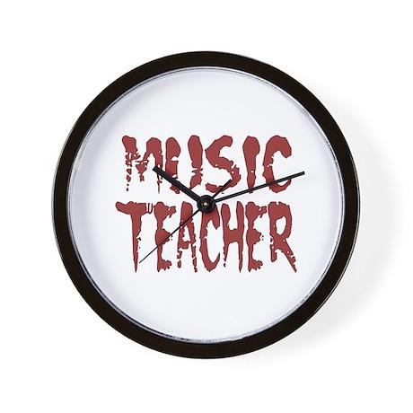 """""""Music Teacher Red"""" Wall Clock"""