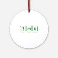 Eat Sleep Oktoberfest Ornament (Round)