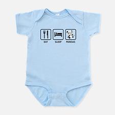 Eat Sleep Panda Infant Bodysuit