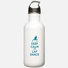 Keep calm and lap dance Water Bottle