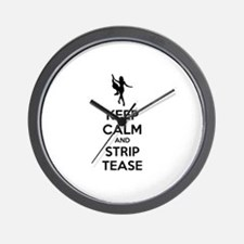 Keep calm and lap dance Wall Clock