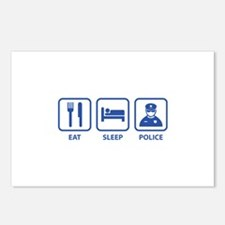 Eat Sleep Police Postcards (Package of 8)