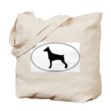Doberman Pinscher Silhouette Tote Bag
