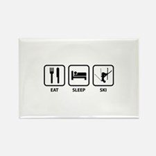 Eat Sleep Ski Rectangle Magnet