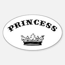 Princess Oval Decal
